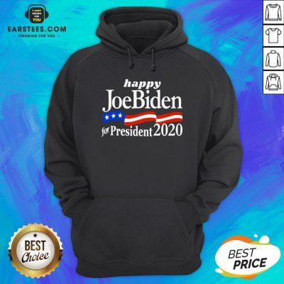 Top Happy Joe Biden For President 2020 American Flag Hoodie - Design By Earstees.com