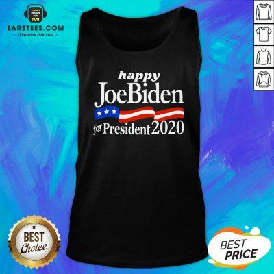 Top Happy Joe Biden For President 2020 American Flag Tank Top - Design By Earstees.com
