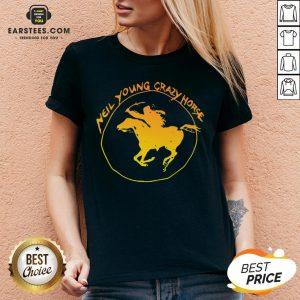 Top Neil Young Crazy Horse V-neck - Design By Earstees.com