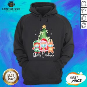 Top Santa Elf Reindeer Wearing Mask Quarantine Christmas 2020 Hoodie - Design By Earstees.com