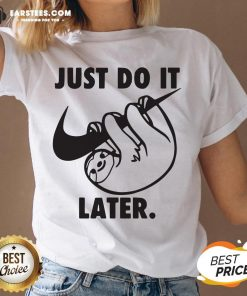 Top Sloth Nike Just Do It Later V-neck - Design By Earstees.com