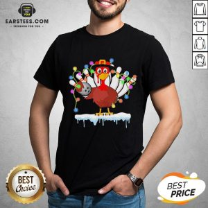 Top Turkey Playing Bolling Happy Light Christmas Shirt- Design By Eerstees.com