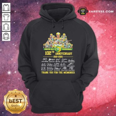 Green Bay Packersga 120th Anniversary 1919 2021 Thank You For The Memories Signatures Hoodie - Design By Earstees.com