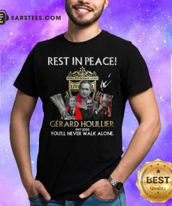Liverpool Rest In Peace Gerard Houllier 1947 2020 You'll Never Walk Alone Signature Shirt - Design By Earstees.com
