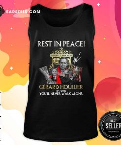 Liverpool Rest In Peace Gerard Houllier 1947 2020 You'll Never Walk Alone Signature Tank Top - Design By Earstees.com