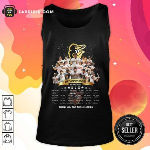 Baltimore Orioles 66th Anniversary 1954 2020 Thank You For The Memories Signatures Tank Top - Design By Earstees.com