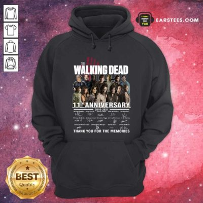 The Walking Dead 11th Anniversary 2010 2021 Thank You For The Memories Signatures Hoodie - Design By Earstees.com