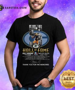 Green Bay Packers 5 Paul Hornung 1935 2020 Hall Of Fame Thank You For The Memories Signature Shirt - Design By Earstees.com