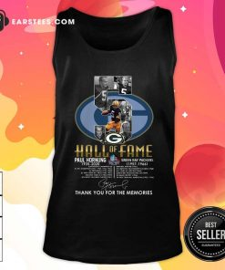 Green Bay Packers 5 Paul Hornung 1935 2020 Hall Of Fame Thank You For The Memories Signature Tank Top - Design By Earstees.com