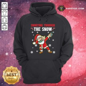 Snorting Through The Snow Dabbing Santa Claus Face Mask Toilet Paper Hand Sanitizer Christmas Hoodie - Design By Earstees.com
