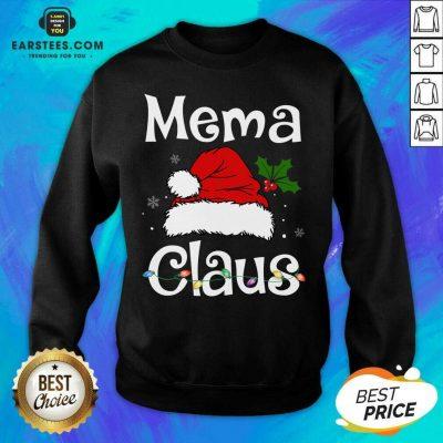 Awesome Beautiful Mema Claus Christmas Family Group Matching Pajama Sweatshirt- Design By Earstees.com