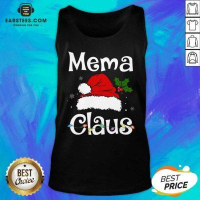Awesome Beautiful Mema Claus Christmas Family Group Matching Pajama Tank Top- Design By Earstees.com