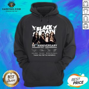 Awesome Black Sabbath 50th Anniversary 1970 2020 Thank You For The Memories Signatures Hoodie - Design By Earstees.com