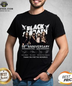 Awesome Black Sabbath 50th Anniversary 1970 2020 Thank You For The Memories Signatures Shirt - Design By Earstees.com