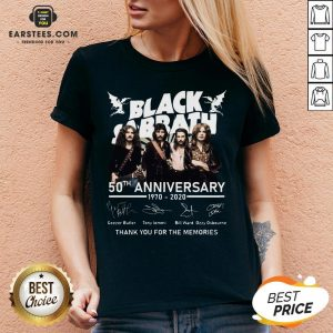 Awesome Black Sabbath 50th Anniversary 1970 2020 Thank You For The Memories Signatures Shirt- Design By Earstees.com