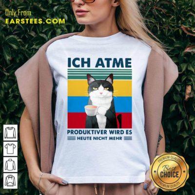 Cat Ich Atme Produktiver Wird's Heute Nicht Mehr Vintage V-neck - Design By Earstees.com