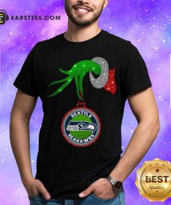 Grinch Hand Holding Seattle Seahawks Christmas Shirt - Design By Earstees.com
