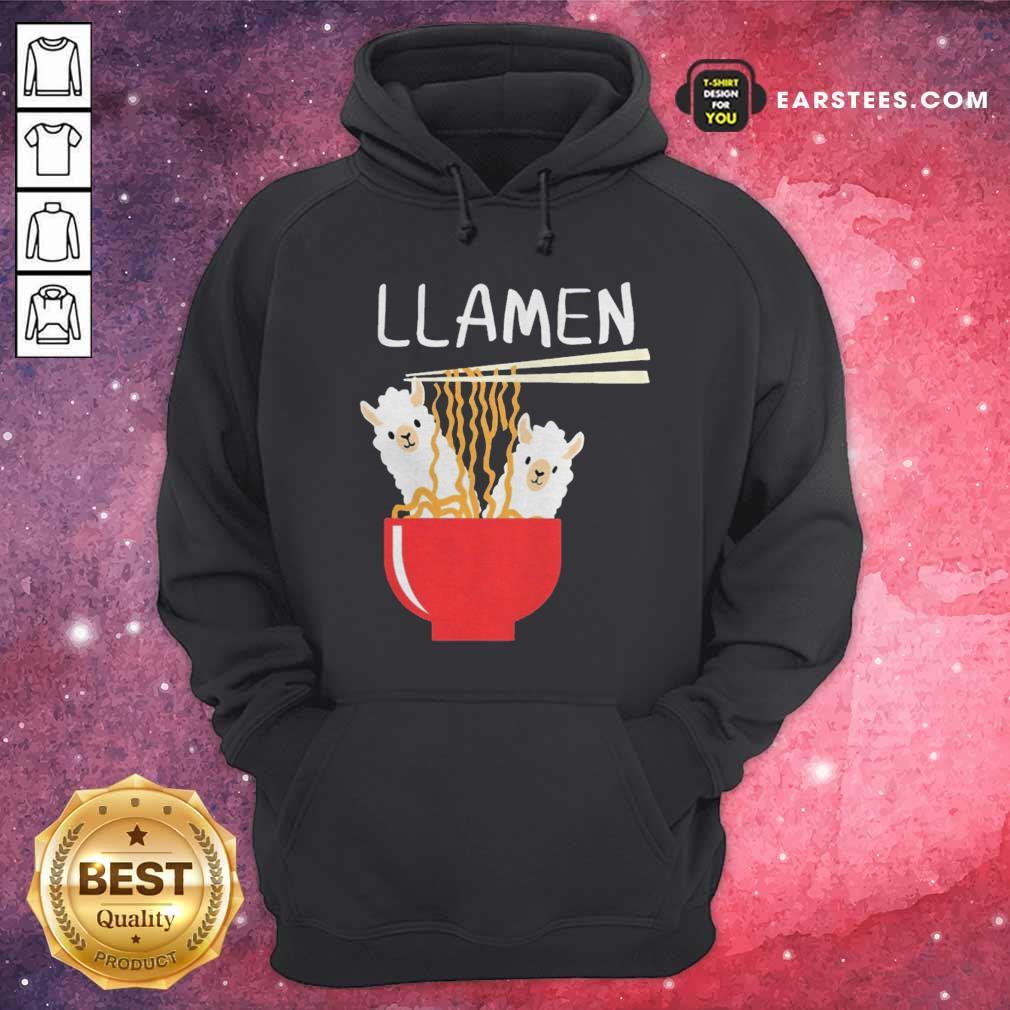 Llama Eat Llamen Hoodie - Design By Earstees.com