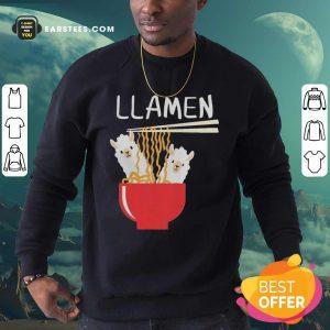 Llama Eat Llamen Sweatshirt - Design By Earstees.com