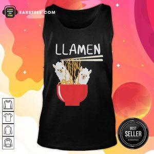 Llama Eat Llamen Tank Top - Design By Earstees.com