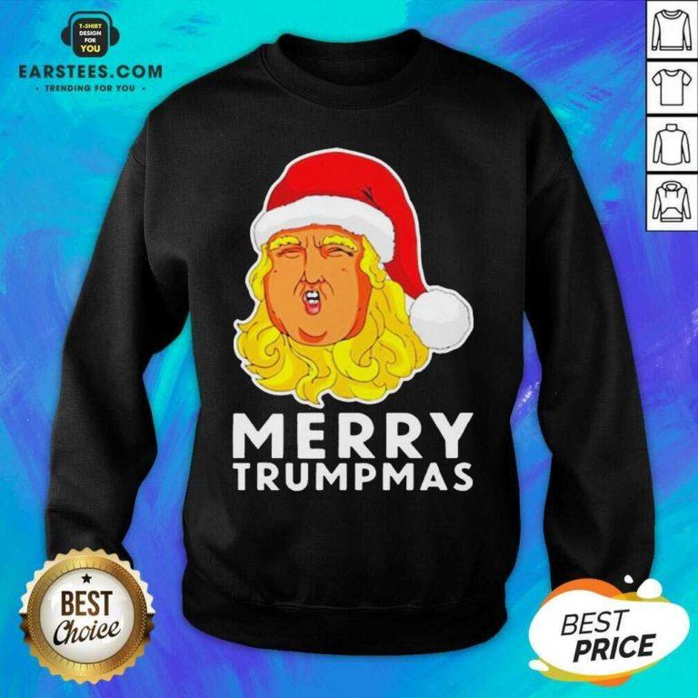Awesome Merry Trumpmas Christmas Sweatshirt - Design By Earstees.com