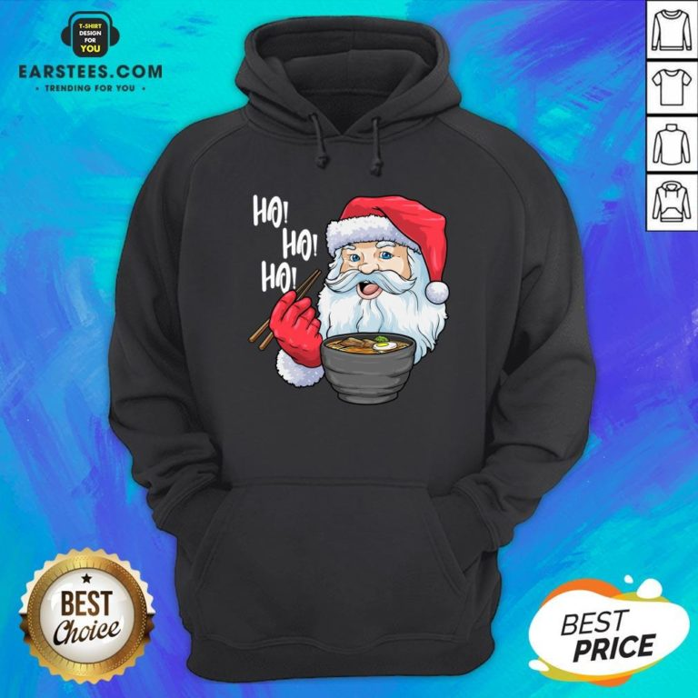 Awesome Santa Claus Eats Noodles Merry Christmas Hoodie- Design By Earstees.com