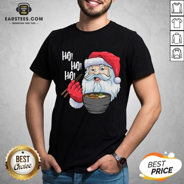 Awesome Santa Claus Eats Noodles Merry Christmas Shirt - Design By Earstees.com