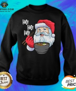 Awesome Santa Claus Eats Noodles Merry Christmas Sweatshirt - Design By Earstees.com