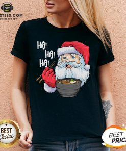 Awesome Santa Claus Eats Noodles Merry Christmas Shirt- Design By Earstees.com