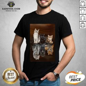 Awesome Three Cat Tiger Reflections 5d Diamond Diy Shirt - Design By Earstees.com