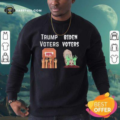 Trump Voters Against Biden Voters Sweatshirt - Design By Earstees.com