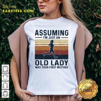 Assuming I'm Just An Old Lady Was Your First Mistake Vintage V-neck - Design By Earstees.com
