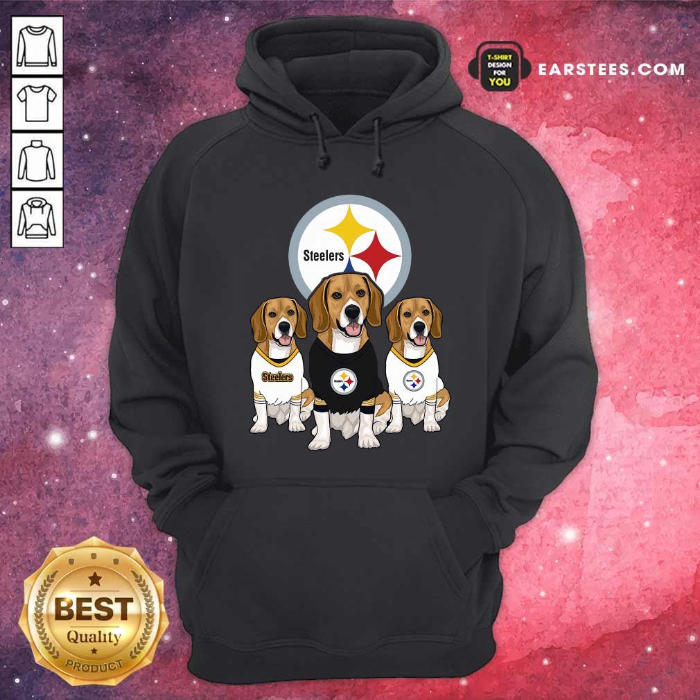 Beagle Pittsburgh Steelers Logo Hoodie - Design By Earstees.com