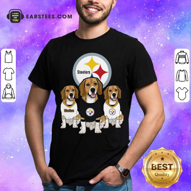 Beagle Pittsburgh Steelers Logo Shirt - Design By Earstees.com