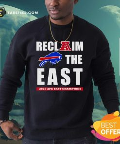 Buffalo Bills Reclaim The East 2020 AFC East Champions Sweatshirt - Design By Earstees.com
