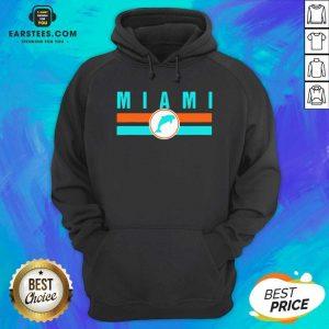 MIA Miami Local Standard MIA Retro Dolphin Miami FL Hoodie - Design By Earstees.com