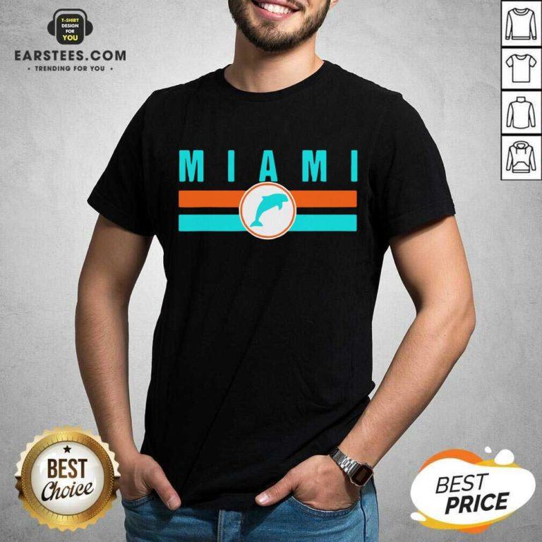 MIA Miami Local Standard MIA Retro Dolphin Miami FL Shirt - Design By Earstees.com