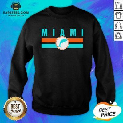 MIA Miami Local Standard MIA Retro Dolphin Miami FL Sweatshirt - Design By Earstees.com