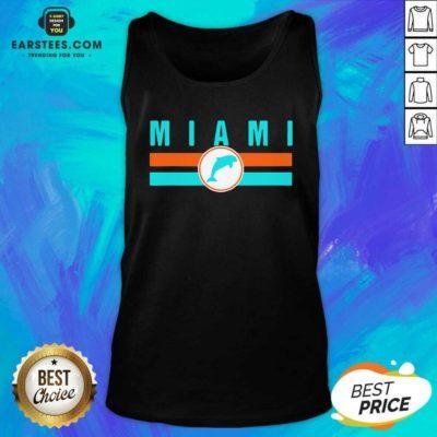 MIA Miami Local Standard MIA Retro Dolphin Miami FL Tank Top - Design By Earstees.com