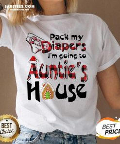 Funny Pack My Diapers Im Going To Aunts House Christmas V-neck - Design By Earstees.com