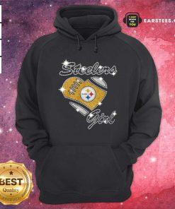 Pittsburgh Steelers Girl Heart Diamond Hoodie - Design By Earstees.com