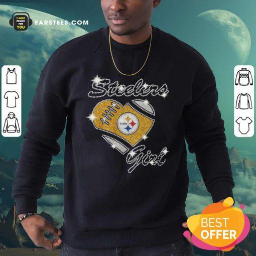 Pittsburgh Steelers Girl Heart Diamond Sweatshirt - Design By Earstees.com