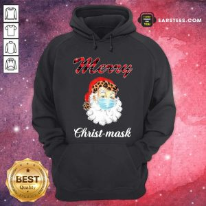 Santa Claus Face Mask Merry Christmas 2020 Hoodie - Design By Earstees.com