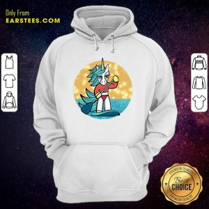 Sup Unicorn Paddleboard Hoodie - Design By Earstees.com