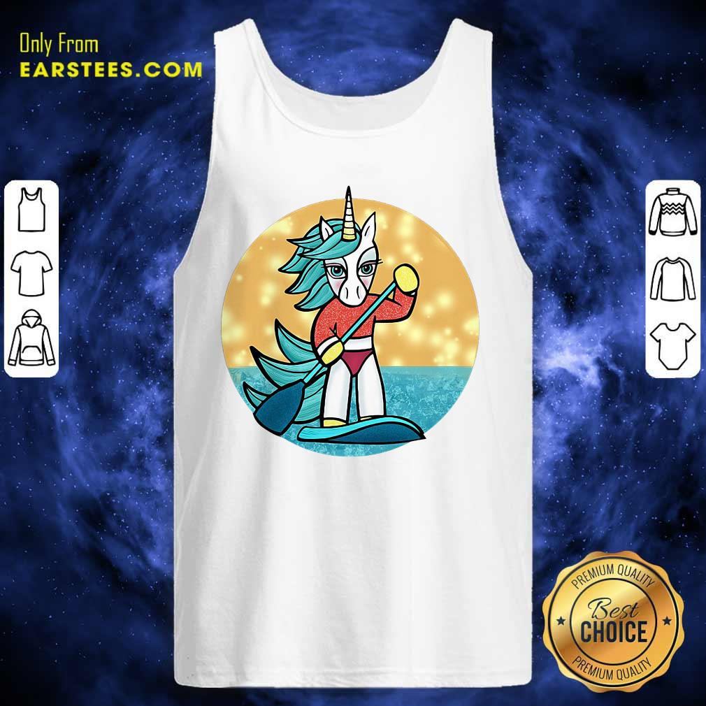 Sup Unicorn Paddleboard Tank Top - Design By Earstees.com