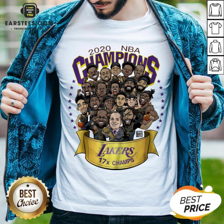 Good 2020 Nba Champions Los Angeles Lakers 17 Champs Cartoon Shirt- Design By Earstees.com
