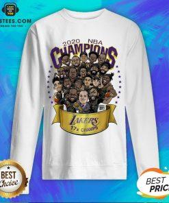 Good 2020 Nba Champions Los Angeles Lakers 17 Champs Cartoon Sweatshirt - Design By Earstees.com