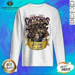 Good 2020 Nba Champions Los Angeles Lakers 17 Champs Cartoon Sweatshirt - Design By Earstees.com