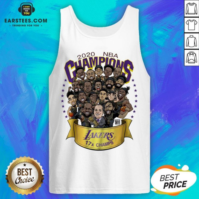 Good 2020 Nba Champions Los Angeles Lakers 17 Champs Cartoon Tank Top - Design By Earstees.com