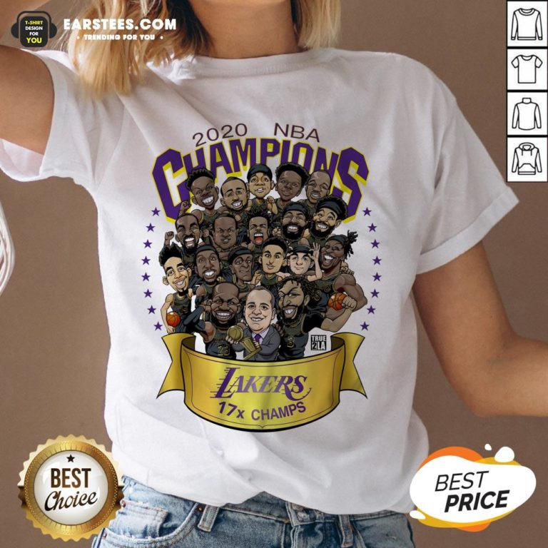 Good 2020 Nba Champions Los Angeles Lakers 17 Champs Cartoon Shirt - Design By Earstees.com